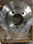 Комплект перфорированных дисков тормозных передни для LC Prado GX460
