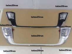 Накладка под номер в стиле Lexus для Land Cruiser 200 16+( Белый )