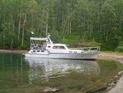 Продам моторную яхту Адмиралтеец. 1984 год, длина 15,00м., двигатель стационарный, 160,00л.с., дизель