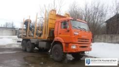 Велмаш VM10L74. Лесовоз КамАЗ 43118 с КМУ
