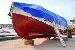 Продается лодка ял-6 c мотором и с местом в Омеге
