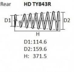 Пружина подвески. Toyota Heavy Duty Truck Toyota Hilux Surf, GRN215, GRN215W, KDN215, KDN215W, RZN210, RZN210W, RZN215, RZN215W, TRN210, TRN210W, TRN2...