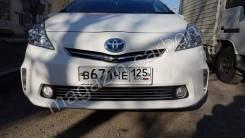 Хромированные накладки на решетку бампера Toyota Prius a 2011-2014