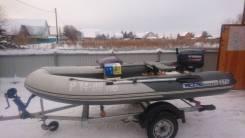 Лодка пвх РИБ 375 складной с мотором ямаха 25