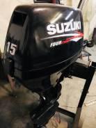 Продам лодочный мотор Suzuki DF 15, нога короткая S (381 мм) из Японии