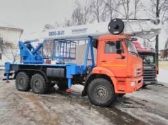 Випо-36. Автогидроподъемник ВИПО-36-01 на шасси Камаз-43118 (6х6), 1 000куб. см., 36,00м.