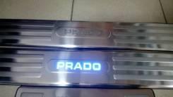 Накладки на пороги Toyota Land Cruiser Prado 150 с подсветкой.
