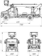 ГАЗ ГАЗон Next C41R13. Автогидроподъемник ПСС-131.22Э на шасси ГАЗ-C41R3, 4 430куб. см., 22,00м.