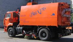Кургандормаш КО-318Д. КО-318Д на шасси Камаз-53605 вакуумная подметально-уборочная (пылесос), 6 700куб. см.