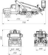 КамАЗ ПСС-131.18Э. ПСС-131.18Э на шасси ГАЗ-3309 (1 рядная кабина), 4 430куб. см., 18,00м. Под заказ