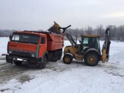 Аренда экскаватора-погрузчика, уборка и вывоз снега и мусора