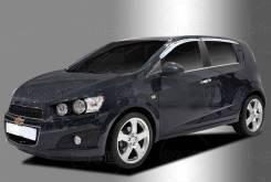 Ветровики хром Chevrolet Aveo (T300) 2011 - 2015 год