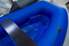 РИБ Пластиковый Baltic 360, стеклопластик, надувные баллоны, синий