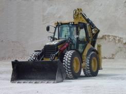 Услуги экскаваторов-погрузчиков CAT 434F. Гидромолот + Ямобур от 100мм