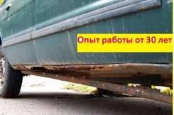 Замена гнилых порогов-Кузовной ремонт в Барнауле