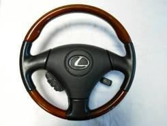 Оригинальный анатомический руль с косточкой дерево Lexus