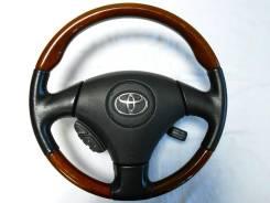 Оригинальный анатомический руль с косточкой дерево Toyota