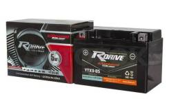 Мото аккумулятор Rdrive Silver YTX9-BS 8А/ч