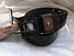 """Байкерский ремень Harley Davidson """"пиковая масть"""", разм.32, США"""