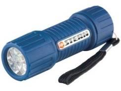 Фонарик светодиод.,синий корпус с мягким покрытием,9LЕD,3хААА/М90513/Stern
