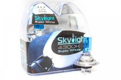 Комплект ламп галогенных Skylight H7 12V55W S/W, синее стекло,белый свет H7 12V55W S/W