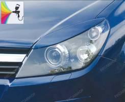 Реснички на фары в стиле Rieger для Opel Astra H (опель астра)