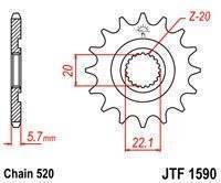 Звезда передняя (ведущая) JTF 1590.13SC в Артёме