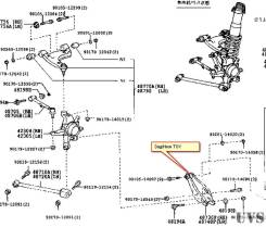 Рычаг TOYOTA MARK II BLIT GX115W