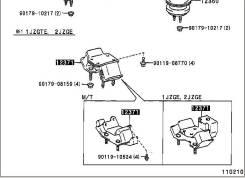 Подушка двигателя TOYOTA MARK II JZX100 1JZGE