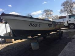 Продаю рыбатскую пластиковую лодку с мотором и телегой