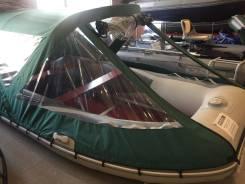 Лодка надувная ПВХ Forward MX420FL, сер, пол дерев. +тент420Бg в