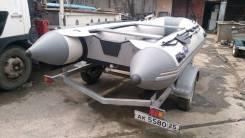 Лодка ПВХ SVAT ZYD420 на прицепе.