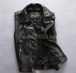 Мотожилет кожаный Harley Angel boar