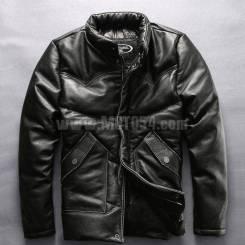 Пуховик кожаный Harley Angel HA-5