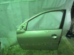 Дверь передняя левая Peugeot 206 1998-2012 (4-5 Дверей 9002K5). Peugeot 206, 2A/C, 2B, 2D, 2E/K DV4TD, DW10TD, EW10J4, TU1JP, TU3A, TU3JP, TU5JP4