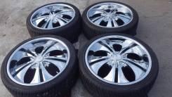 Диски R22 5*114.3 хром XI Wheels с летней резиной 265/35/22