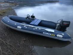 Продам лодку ПВХ Солар 450jet +мотор+телега