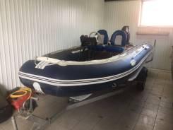 "Лодка ""Solar 555"" +Лодочный мотор ""Tohatsu 50""+Прицеп для лодки Крас"