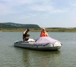 Продам лодку 4 м донг сеа мотор гольфстрим 15 + телега