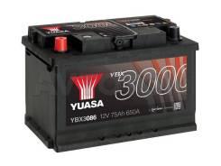 Аккумулятор YBX 3086 75 a/ч 650a (278х175х190)