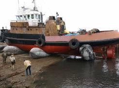 Услуги по вытягиванию кораблей спуск -подъем судов на берег. Эвакуация