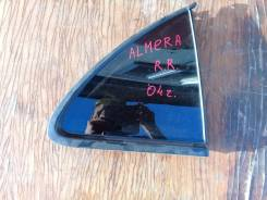 Стекло заднее правое (форточка) , Nissan Almera Classic Almera N16