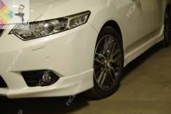 """Накладки переднего бампера """"Клыки"""" для Honda Accord 8 (рестайлинг)"""