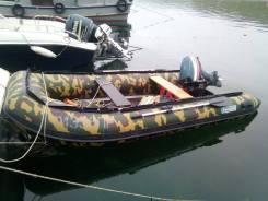 Продам лодку ПВХ 3.9 м с мотором 25 и телегой