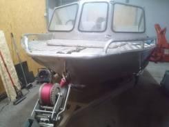 Моторная лодка Русбот 43 ДЖЕТ (Rusboat 43 JET) с мотором Mercury 40JEТ