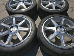 Отличный комплект колес R17 rays versus avanti резина Hankook