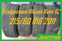 Bridgestone Blizzak Revo GZ. зимние, без шипов, 2011 год, б/у, износ 10%