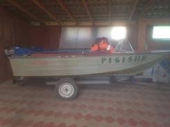 Продам лодку южанка 2 с мотором и прицепом