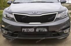 Накладки на передние фары (реснички) KIA Rio III 2015-2016 Киа Рио