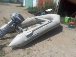 Моторная лодка баракуда с навесным мотором ямаха св 25 2 тактный